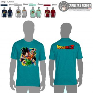 Camiseta hombre estilo 12 de DRAGON BALL Z Y SUPER