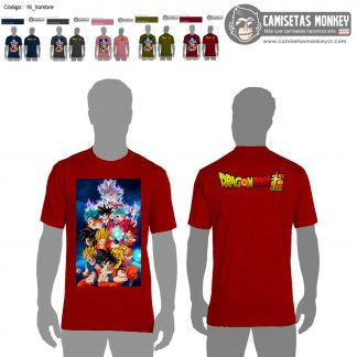 Camiseta hombre estilo 16 de DRAGON BALL SUPER