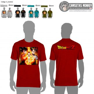 Camiseta hombre estilo 8 de DRAGON BALL Z Y SUPER
