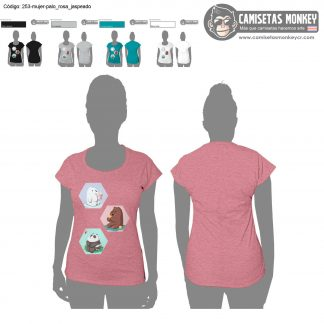 Camiseta mujer estilo 253 de CAMISETAS DE WE BARE BEARS – ESCANDALOSOS