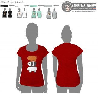 Camiseta mujer estilo 255 de CAMISETAS DE WE BARE BEARS – ESCANDALOSOS